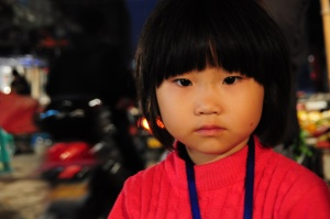 Girl in shantytown Suzhou