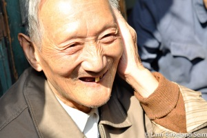 A very sweet, old man in Suzhou old-town
