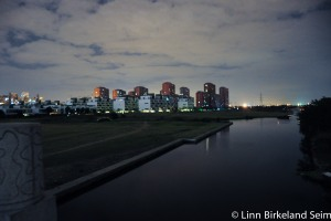 Modernity in the distance — view from the shantytow- China-2011.